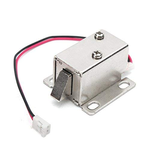 12V 0.34A Electronic Lock Catch Electric Release Assembly Solenoid for Door Gate Drawer 14X14Mm (Color : -, Size : -) - Release Solenoid