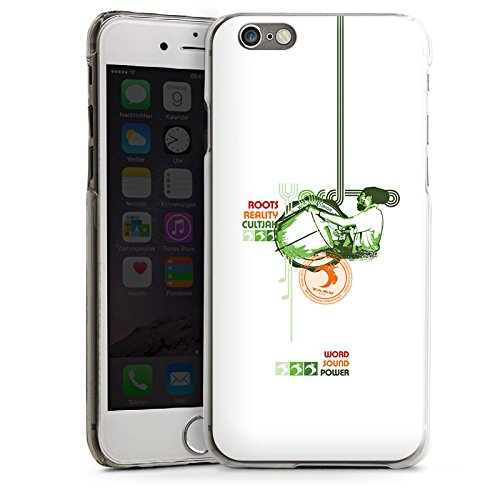 Apple iPhone 4 Housse Étui Silicone Coque Protection Jamaïque Peace Rasta CasDur transparent