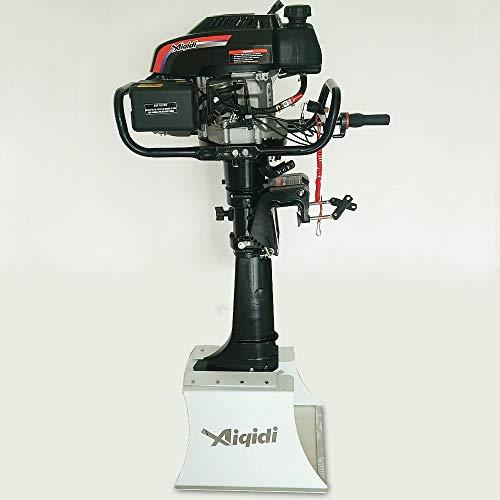 Senderpick 6.5hp motore fuoribordo a 4 tempi, 173cc con raffreddamento ad aria, comando pinne, motore per pesciolini