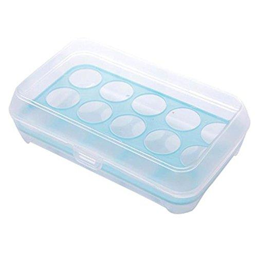 LAVANY Container Single Layer Kühlschrank Speisen 15Eier luftdicht Kunststoff Box blau