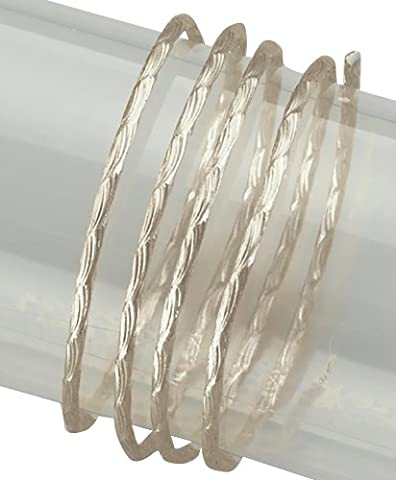 EFCO 2mm x 2m Aluminium eloxiert Farbe Draht mit Wave Muster Prägung, Pearl (Muster Draht)