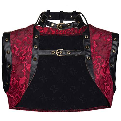 AMURAO Damen Bustier Top Steampunk Korsett Gothic Burlesque Kostümzubehör -