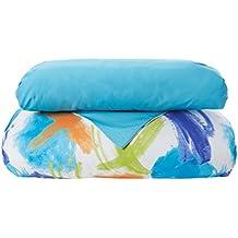 Reig Martí Croft - Juego de funda nórdica estampada, 3 piezas, para cama de 150 cm, color azul