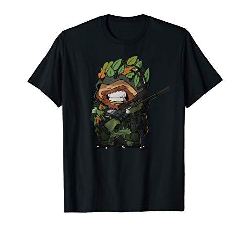 BB HEAD Airsofter Airsoft Softair Gamer Operator Sniper T-Shirt