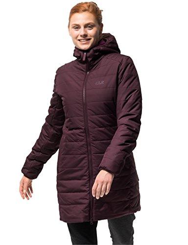 Jack Wolfskin Damen Maryland Coat Steppmantel Winddicht Wasserabweisend Atmungsaktiv Mantel, Violett (burgundy), S