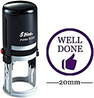Printtoo WELL DONE Round Self Inking Rubber Stamp Custom Shiny Personalized Teachers Stamps