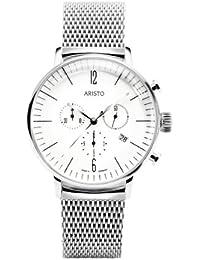 Aristo 4H150M - Reloj , correa de acero inoxidable color plateado