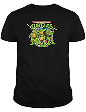 The Fan Tee Camiseta de Niños Tortugas Ninja Retro Dibujos Animados