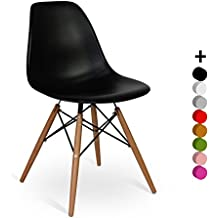 Eames dsw chair for Chaise eames eiffel noire