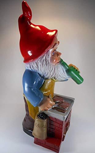 Gartenzwerg Grillmeister aus bruchfestem PVC Zwerg Made in Germany Figur - 5