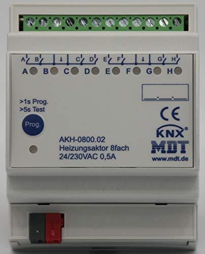 MDT® KNX / EIB Heizungsaktor 8-fach / 4TE / 24 - 230V (AC) > AKH-0800.02