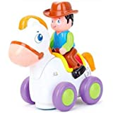 Happy Racing Horse Toy with Music, Light & Universal Wheel