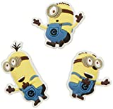 crocs Unisex-Kinder Minions 3-Pack Schuhanhänger, Mehrfarbig (-), Einheitsgröße