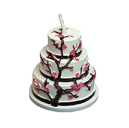 Milopon Kerze Hochzeit Deko Kerze Geburtstagskerze Romantische Kerzen, Ohne Rauch, Romantisch, Valentinstag, zur Dekoration Hochzeit Geschenk (Kirschblüten)