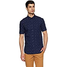 Parx Men's Solid Slim Fit Casual Shirt