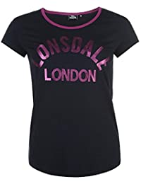 Lonsdale Logo T Shirt Ladies marine