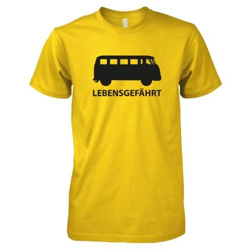 TEXLAB - Bulli T1 Lebensgefährt - Herren T-Shirt Gelb