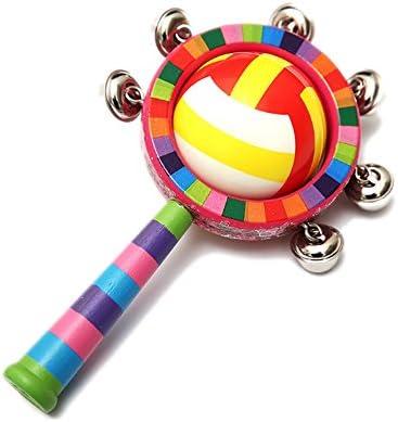 Isuper sonajeros Babyphone, hochet de Jingle de Bois juquete Musical éducatif juquete avec Son pour Les  s et babyphone (Multicolore)   Soldes