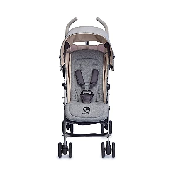 Easywalker Buggy Milano Melange  Suitable from birth 5 point 3 position harness Four recline positions with near flat recline 5