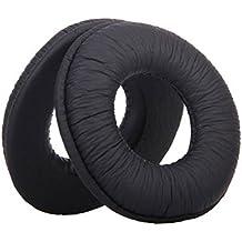 niceeshop(TM) Alfombras PU Almohadillas de Cuero Copa Auriculares para Sony MDR-V150 V250 V300 Auricular (Negro, 1 Par)