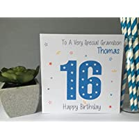 Personalised Birthday Card Boys Teenager 16TH 18TH 21ST