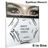 Ojos Maquillaje Eyeliner Plantillas gato pescado doble alas vorlage 6en 1