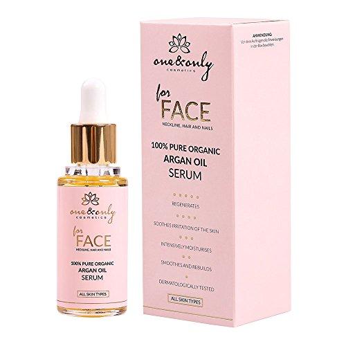 One&Only for Face, Neckline, Hair and Nails 100% Argan Oil 30ml, reines organisches Arganöl-Serum, intensiv feuchtigkeitsspendend, regenerierend, Anti-Falten-Serum, verjüngend für Frauen und Männer -