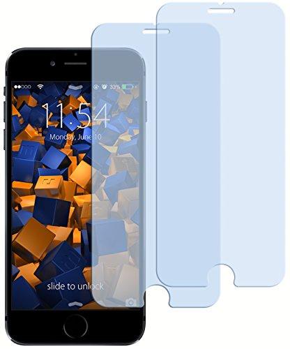 mumbi 2X ECO Panzerfolie für iPhone 6 6s Hartglas Glasfolie (bewusst Kleiner als das Display, da Dieses gewölbt ist