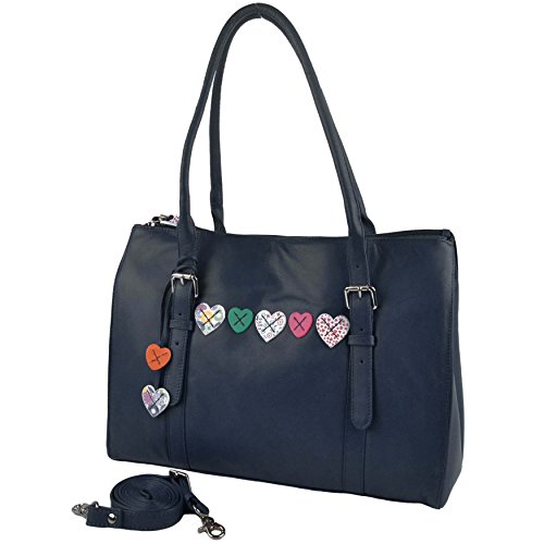 Mala Leather, Borsa tote donna Navy