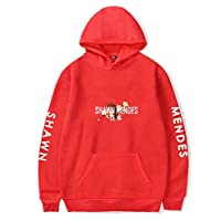 Red Round Neck Hoodies For Unisex