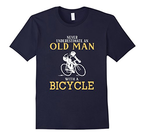never-underestimate-an-old-man-with-a-bicycle-t-shirt-herren-grosse-2xl-navy
