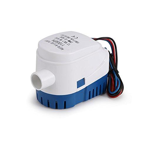 OurLeeme Bilgepumpen, 12V 1100GPH Automatische Bilgenpumpe Marine Tauch Bilge Auto Silent Flüssigkeitspumpe Wasserpumpe für Boote, Teiche, Pools -