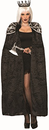 Damen Deluxe Gothik Thron Game Queen Royalty Tv Buch Film Halloween Horror Maskenkostüm Mantel...