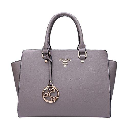 MeiZiWang PU-Leder-Handtasche Frau Tragbaren MeiZiWang Grey