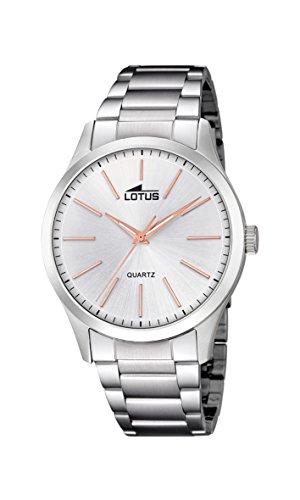 Lotus Watches Reloj Análogo clásico para Hombre de Cuarzo con Correa en Acero Inoxidable 15959/5