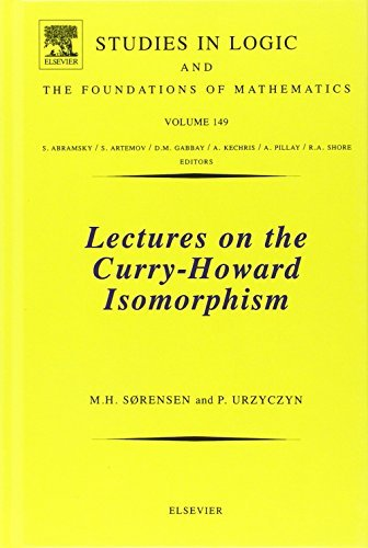 Lectures on the Curry-Howard Isomorphism (Studies in Logic and the Foundations of Mathematics) by Pawel Urzyczyn (2006-06-01)