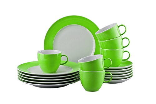 Thomas 10850-408527-28352 Sunny Day Apple Green Kaffeeset 18-teilig Kaffeeset, Porzellan, Apple...
