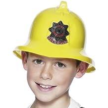 Casco de bombero amarillo para niños gorro fuego accesorios infantiles