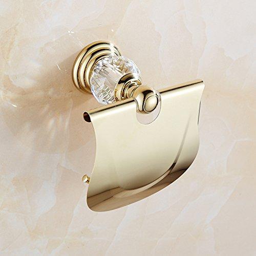 X&L Punch oro cristallo continentale asciugamano rack impermeabile WC toilette carta rotolo carta igienica cornice titolare scatola del tessuto