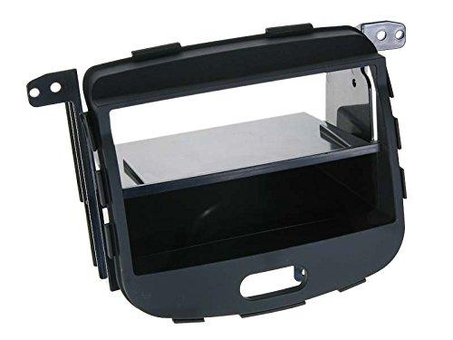 Radioblende Hyundai i10 ab Bj. 2008 2-DIN rubber-touch mit Ablagefach