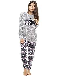 Pijama de Pijamas cómodos Pijamas Snuggle Pijamas cálidos Pijama Twosie Set | Desgaste de Lujo del