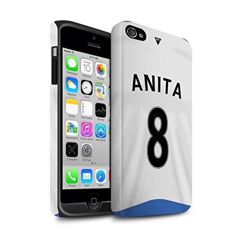 Officiel Newcastle United FC Coque / Matte Robuste Antichoc Etui pour Apple iPhone 4/4S / Pack 29pcs Design / NUFC Maillot Domicile 15/16 Collection Anita