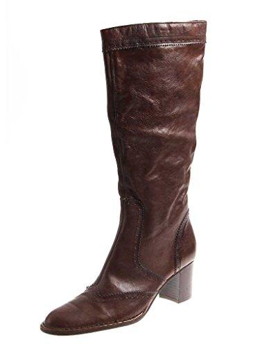 YKX & Co Stiefel Lederstiefel Langschaft Damenschuhe Stiefel Damen 2856  Italy