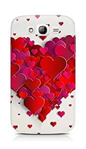 Amez designer printed 3d premium high quality back case cover for Samsung Galaxy Grand Neo (Heart of hearts)