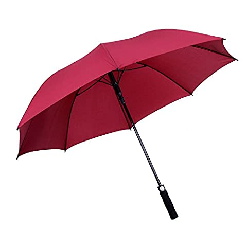 WILLIAM&KATE Large Windproof 8 Bone Durable Long Handle Golf Semi-automatic Business Umbrella