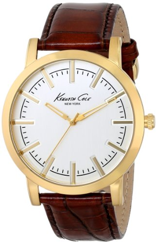 kenneth-cole-new-york-mens-kc8043-gold-tone-watch-with-brown-leather-strap