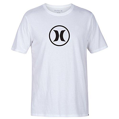 Herren T-Shirt Hurley Circle Icon Dri T-Shirt White