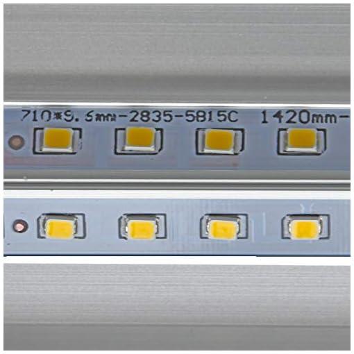LineteckLED® – P25-48N Plafoniera Led Ultraslim 150cm 60W Luce Naturale (4200K) 4800 Lumen sostituisci la Tradizionale Plafoniera Neon con le Plafoniere Led a Soffitto Moderno