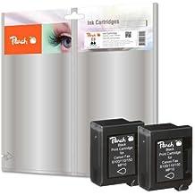 Peach PI100-198 enajenamiento cartuchos para Canon BX-3 - negro (paquete de 2)