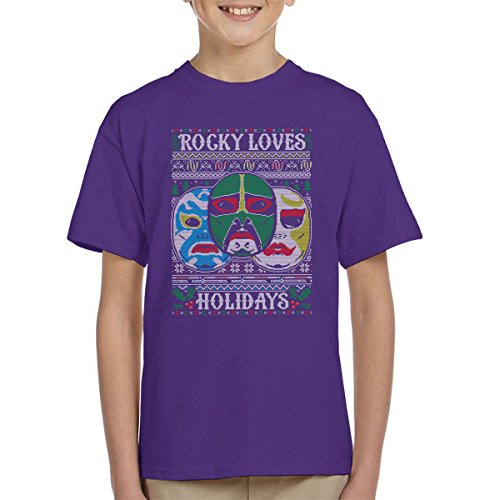 3 Ninjas Masks Holidays Christmas Knit Pattern Kid's T-Shirt (Rocky Tum Colt Tum)